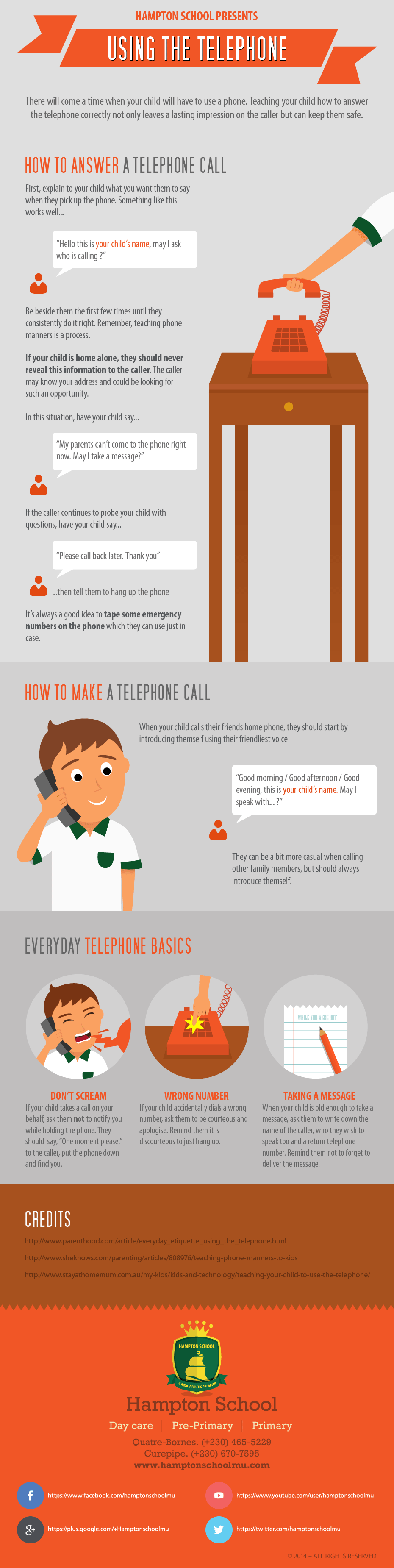 Telephone Safety and Etiquette for Kids [Infographic]