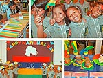 Pupils celebrating 50 years of Mauritian Independence