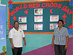Red Cross, Mauritius visit Hampton Primary School