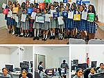 Hampton School Girls take part in the iamtheCODE campaign