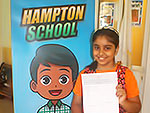 Hampton School Pupil with PSAC 2018 Results