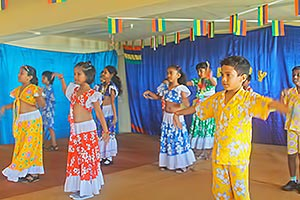 Hampton School Curepipe pupils performing for National Day