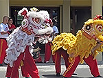 Dragon dance at Hampton Private Primary School, Mauritius, 2104